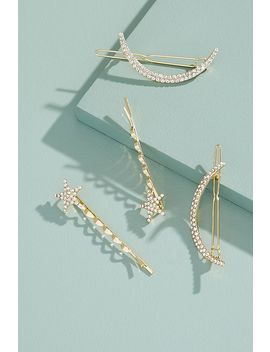 Jewelled Stars And Moon Bobby Pins by Anthropologie