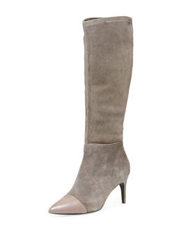 Parish Tall Stretch Suede Boots by Charles David