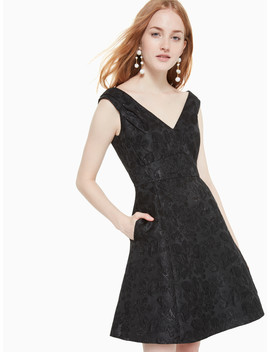 Metallic Jacquard Dress by Kate Spade