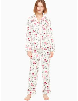 Brushed Twill Long Pj Set by Kate Spade