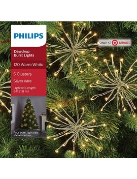 Philips 5ct Christmas Led Glitter Dewdrop Burst Lights Warm White by Philips