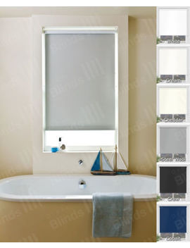 Waterproof Bathroom Roller Blinds   Pvc Fabric Blinds For Wettest Of Rooms by Ebay Seller