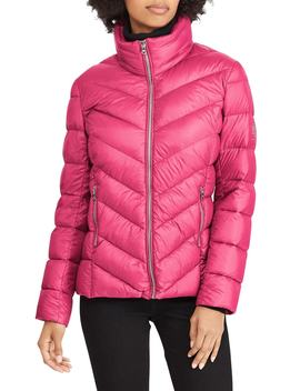 Chevron Quilted Packable Down Jacket by Lauren Ralph Lauren