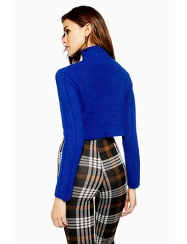Super Soft Ribbed Funnel Neck Jumper by Topshop