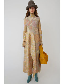 Printed Boucle Dress Pink/Lilac by Acne Studios