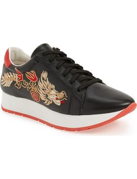 Enzo Embroidered Sneaker by Linea Paolo
