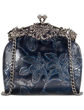 Metallic Bark Leaves Rosaria Shoulder Bag, Created For Macy's by Patricia Nash