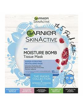 Garnier Skinactive Tissue Masks The Collection Christmas Gift Set For Her, Pack Of 5 by Garnier