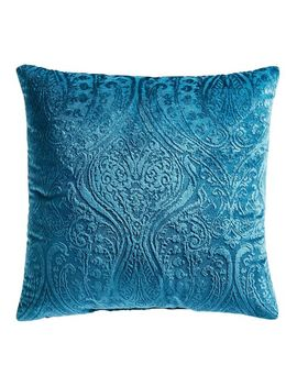 Paisley Velvet Teal Pillow by Pier1 Imports
