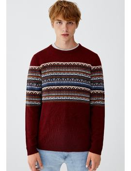 Mit Jacquard   Strickpullover by Pull&Bear