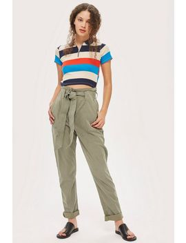 Tall Popper Utility Trousers by Topshop