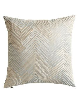 Chevron Leaf Mineral Blue Pillow by Pier1 Imports