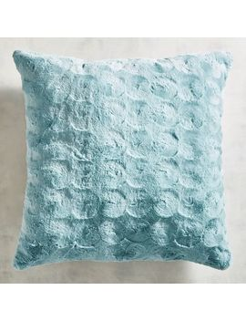 Fuzzy Smoke Blue Pillow by Pier1 Imports