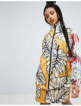 Adidas Originals X Farm Three Stripe Track Jacket In Pineapple Print by Adidas