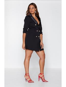 Black Tie Affair Blazer Dress by Nasty Gal