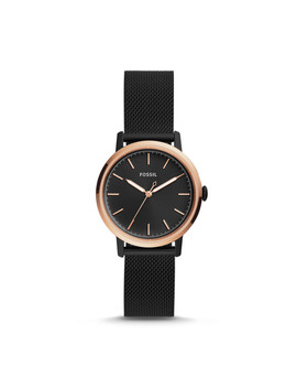 Neely Three Hand Black Stainless Steel Watch by Fossil