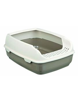 Trixie Delio Cat Litter Tray With Rim, 35 X 20 X 48 Cm, Taupe/Cream by Trixie