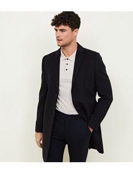 Navy Overcoat by New Look