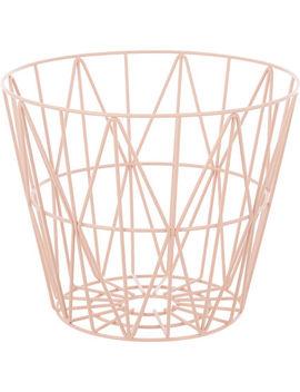 Rose Wire Geometric Basket 32x40cm by
