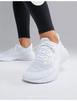 Белые кроссовки Nike Running Epic React by Asos