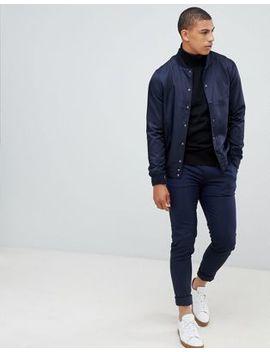 Jersey Negro Con Cuello Vuelto De New Look by Asos