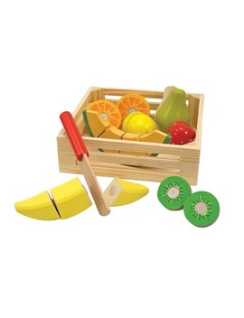 Melissa & Doug® Cutting Fruit Set   Wooden Play Food Kitchen Accessory by Melissa & Doug