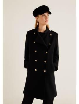 Двубортное пальто by Mango