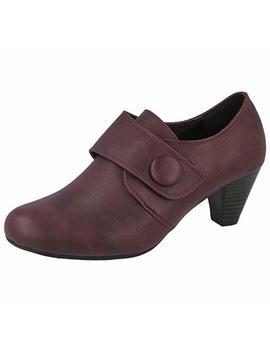 Ladies Heidi Cushion Walk Purple Faux Leather Button Pixie Trouser Ankle Boots Size 4 8 by Cushion Walk
