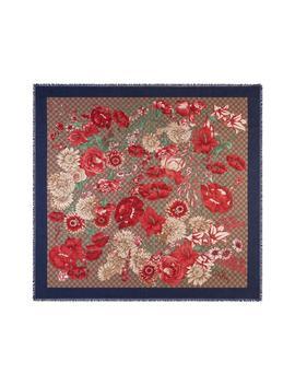 Gg Supreme Spring Bouquet Modal & Silk Shawl by Gucci