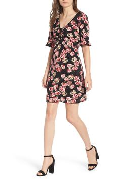 Floral Print Tie Ruched Dress by Band Of Gypsies