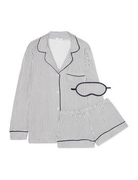 Sleep Chic Striped Jersey Pajama Set by Eberjey