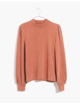 Puff Sleeve Mockneck Top by Madewell