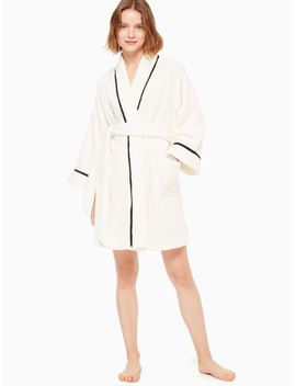 Printed Plush Robe by Kate Spade