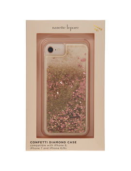 Gold & Pink Confetti Phone Case by Nanette Lepore