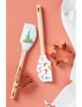 Print Spatula With Stainless Steel Cookie Cutter by Anthropologie