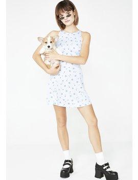 Vintage 00s Daisy Print Mini Dress by Dk Vintage