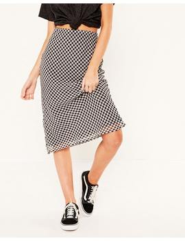 Gingham Midi Skirt by Glassons