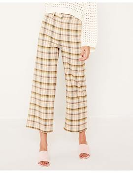 Wide Leg Check Pant by Glassons