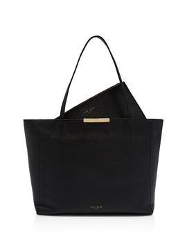 Caullie Medium Leather Tote by Ted Baker