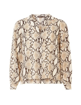Multicoloured Snake Print Pyjama Style Shirt by Dorothy Perkins