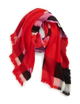 Colorblock Plaid Scarf by Leith