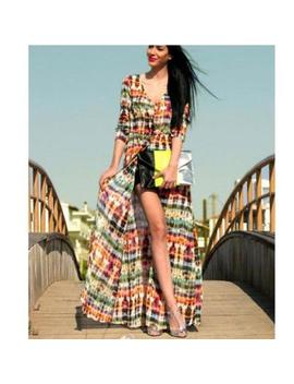 Women's Loose Long Tie Dye Beach Dress Ladies Cover Up Cardigan Maxi Skirt Lin by Unbranded