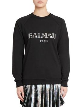 Hologram Logo Sweatshirt by Balmain