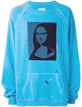 Mona Lisa Print Sweatshirt by Maison Margiela
