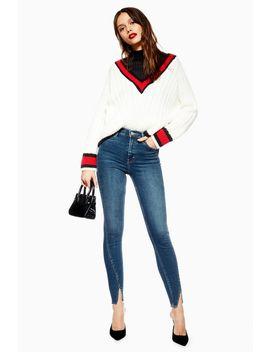 Mid Blue Tulip Hem Jamie Jeans by Topshop