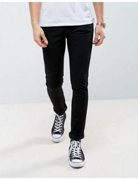 Nudie Jeans Co Skinny Lin Jeans In Black by Nudie