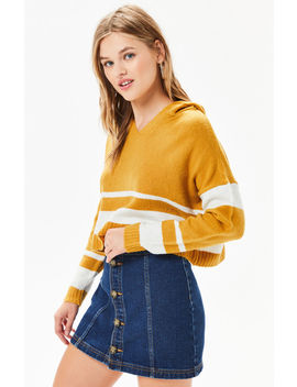La Hearts Cropped Hooded Sweater by Pacsun