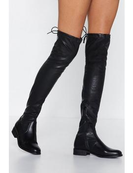 You Know Where To Reach Me Over The Knee Boot by Nasty Gal
