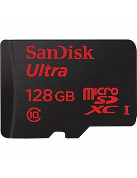 San Disk Ultra 128 Gb Uhs I Class 10 Micro Sdxc Memory Card Up To 80mb/S Sdsqunc 128 G With Adapter by San Disk