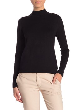 Mock Neck Long Sleeve Sweater (Petite) by Philosophy Apparel